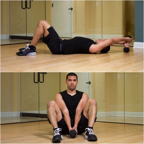 abs workouts with 1 dumbbell — best core workouts for a