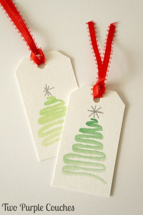 Gift Wrapping Ideas Easy Watercolor Christmas Gift Tags