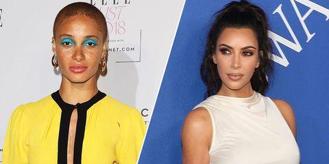 Kim Kardashian and Adwoa Aboah