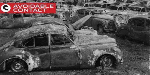 Motor vehicle, Vehicle, Car, Classic, Classic car, Vintage car, Mid-size car, Scrap, Sedan, Antique car,