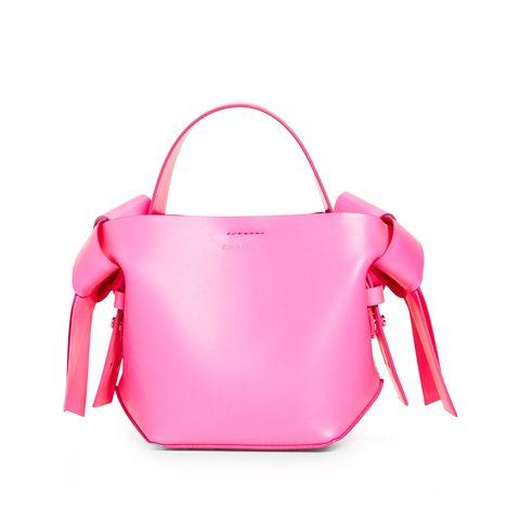 Bag, Handbag, Pink, Shoulder, Red, Fashion accessory, Shoulder bag, Magenta, Leather, Joint,