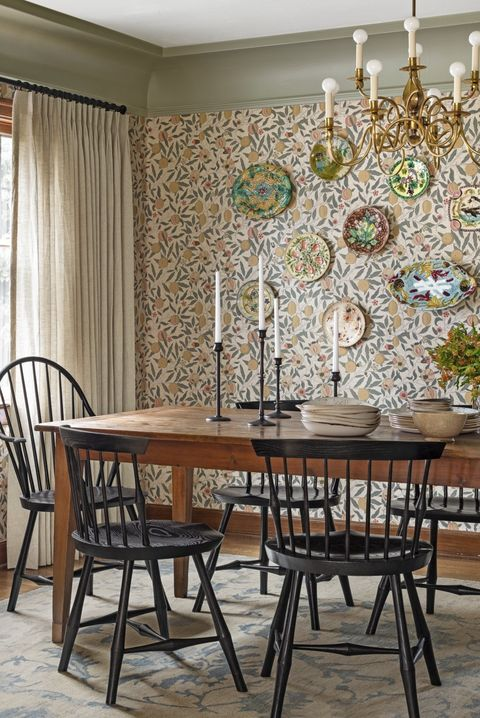 25 Best Accent Wall Ideas, Accent Wallpaper Dining Room Ideas