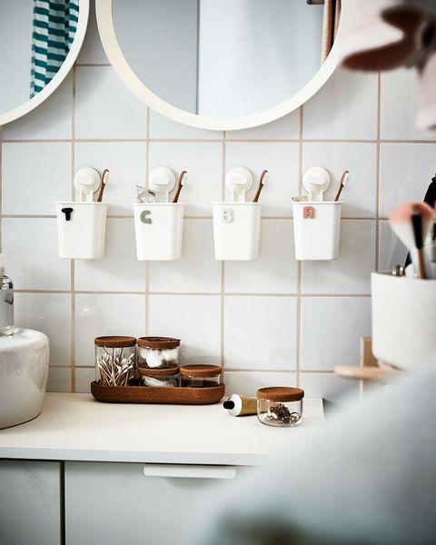 vasos de pared para cepillo de dientes y dentrífico