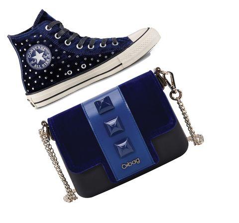 Hai già pensato ai tuoi look delle feste? Se Blue is The new Red, anche gli accessori moda come scarpe e borse lo devono essere.