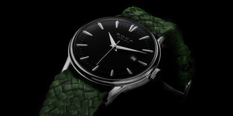 Watch, Analog watch, Black, Watch accessory, Green, Fashion accessory, Strap, Brand, Jewellery, Material property,