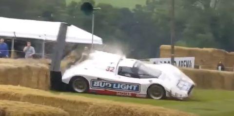 accidente jaguar xjr12d en goodwood festival of speed