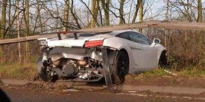 Accidente de Sergio Romero con su Lamborghini Gallardo