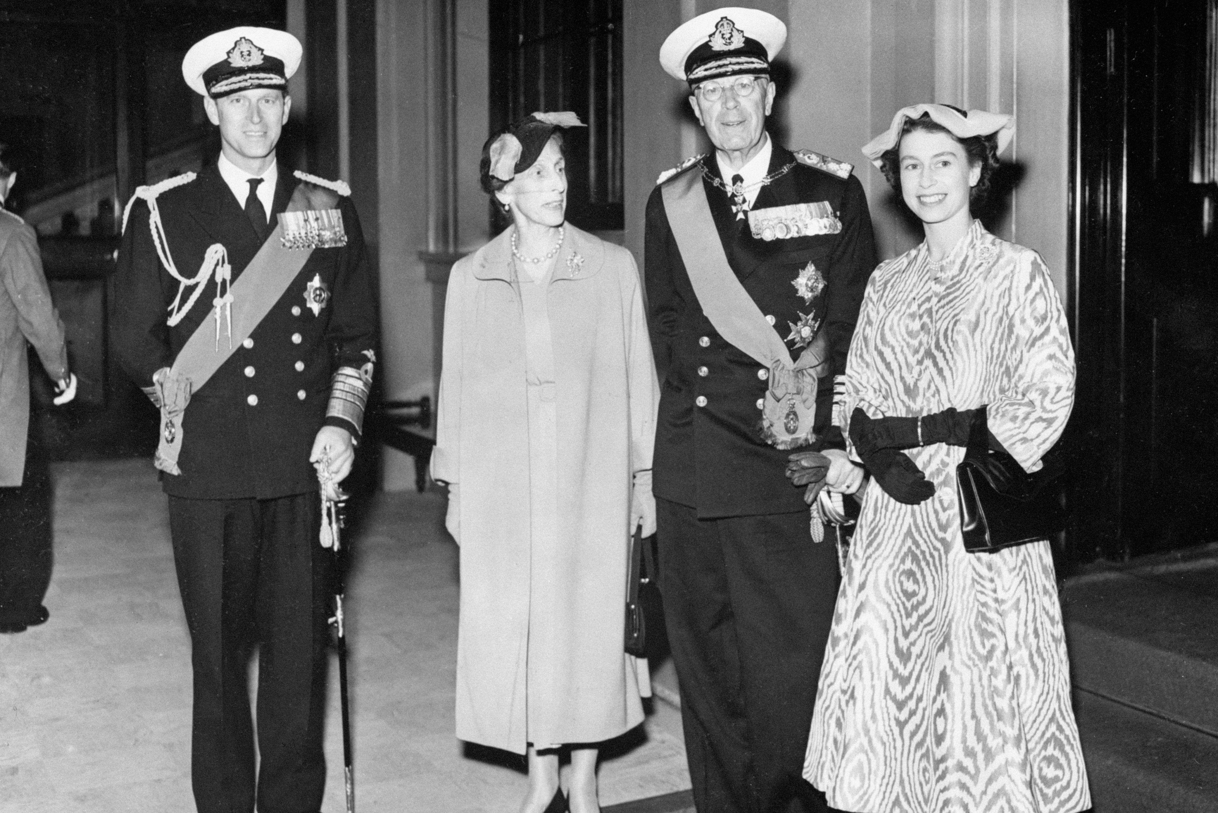 Royalty - Visits of Foreign Royalty - King Gustav VI and Queen Louise of Sweden - Buckingham Palace, London