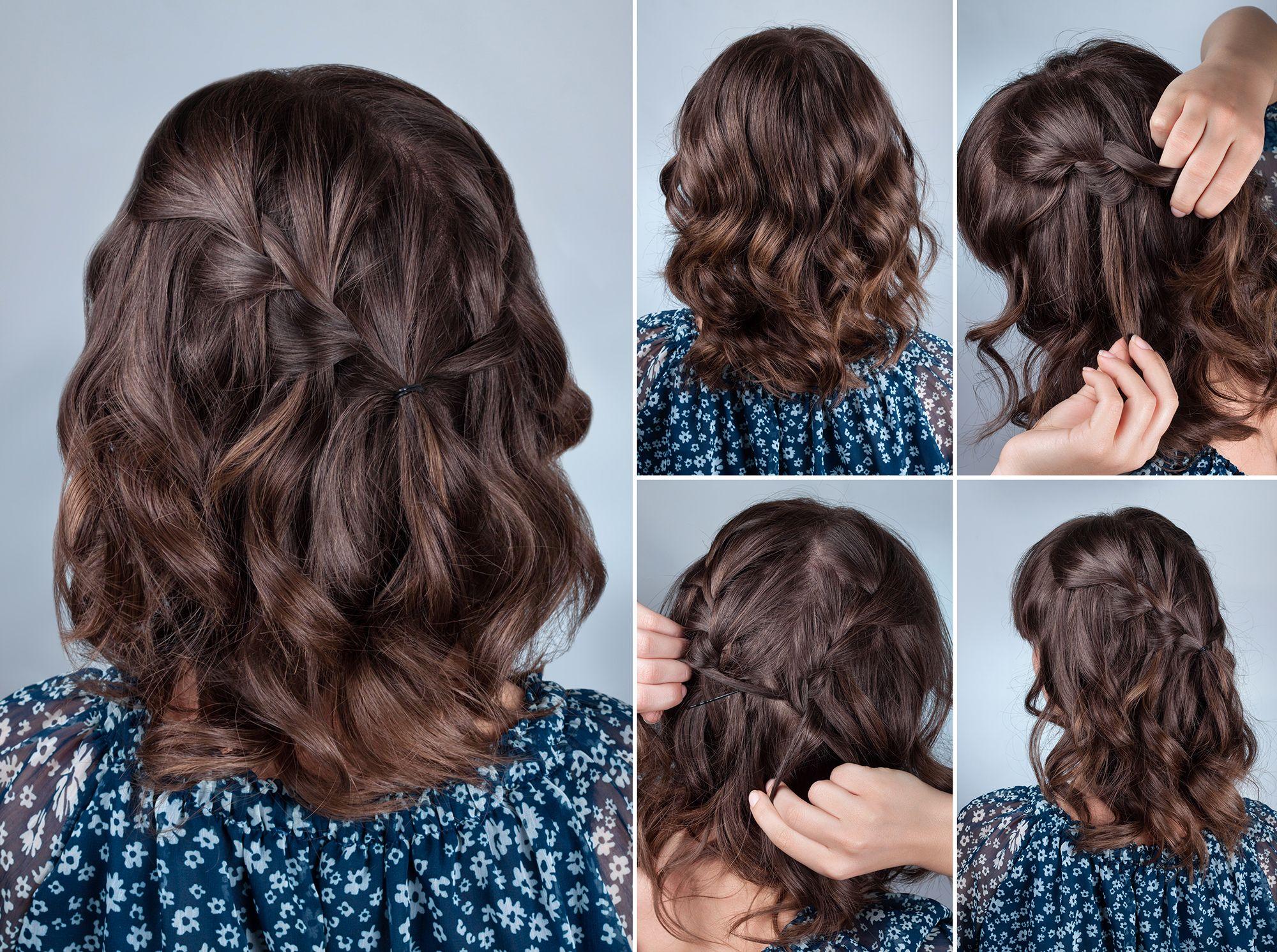 Pettinature semiraccolte capelli medi