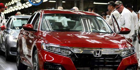 2018 Honda Accord assembly at Marysville, Ohio