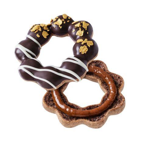 咖啡色的甜甜圈