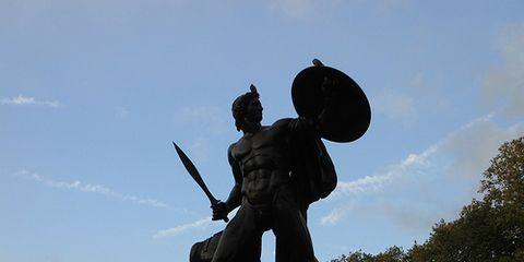 A statue of Achilles. credit: Matt from London/Flickr