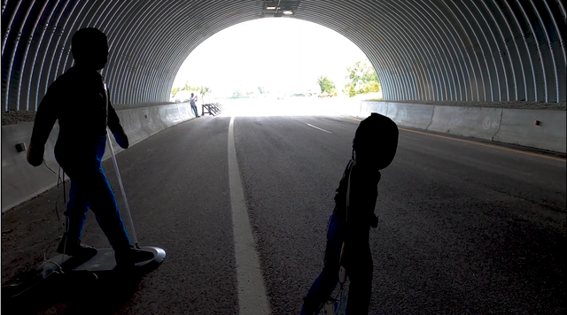 lidar test dummies in a tunnel