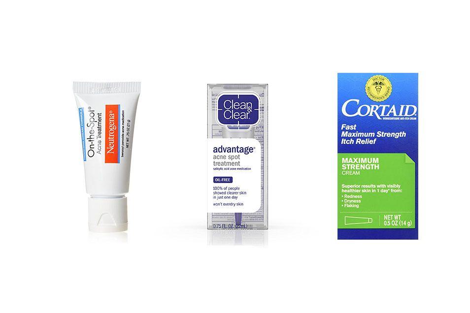 Neutrogena, Clean and Clear, Cortaid acne spot treatment