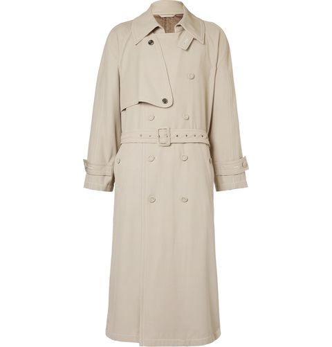 Clothing, Trench coat, Coat, Outerwear, Overcoat, Beige, Sleeve, Day dress, Dress, Collar,