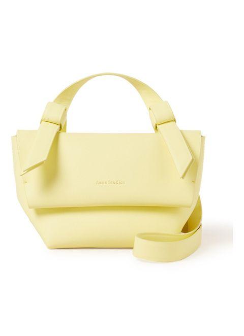 Bag, Handbag, Yellow, Fashion accessory, Shoulder bag, Beige, Tote bag, Leather,