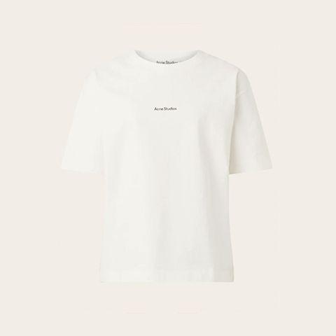 acne studios wit tshirt