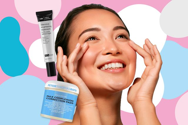 products surrounding face