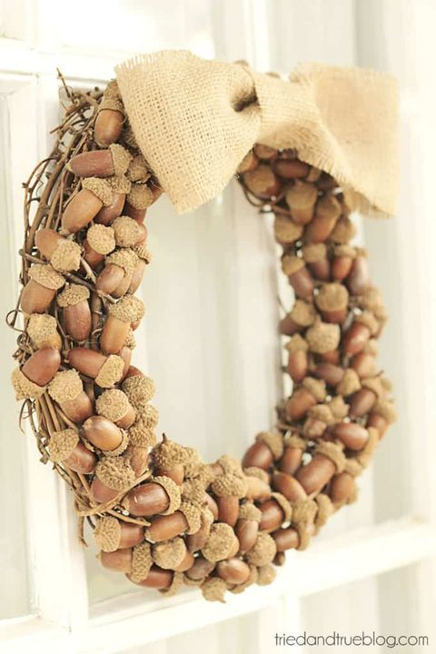 fall diy wreaths acorn