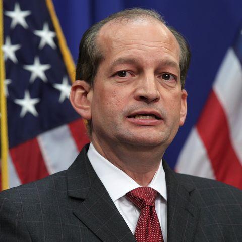 Labor Secretary Alex Acosta Holds A Press Conference On Jeff Epstein Case