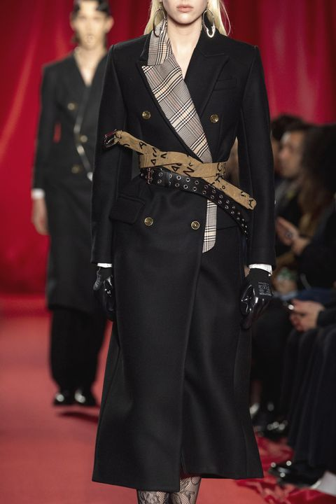 Fashion, Runway, Fashion model, Haute couture, Fashion show, Coat, Outerwear, Overcoat, Event, Trench coat,