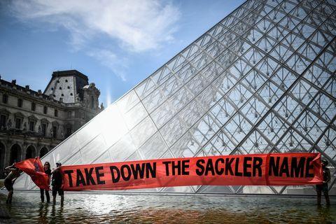 sackler louvre protest