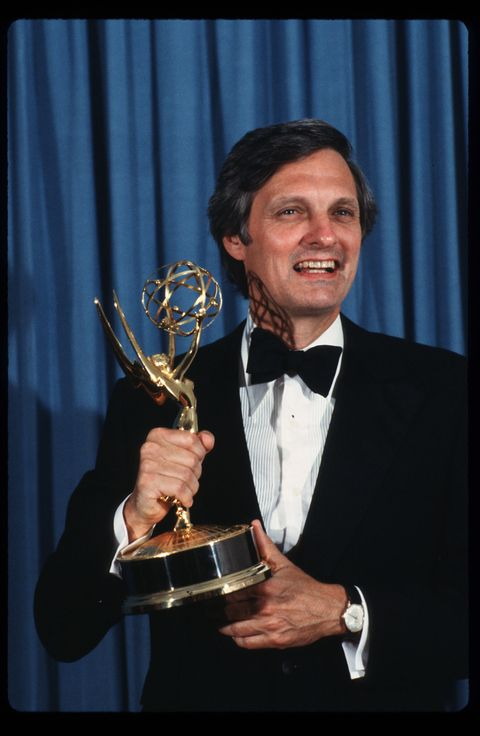 Actor Alan Alda Receives An Emmy Award...
