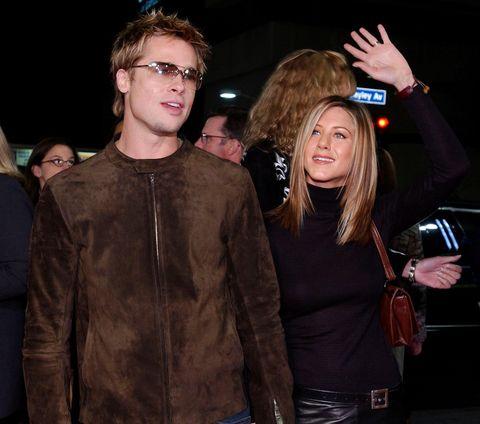 ABD'li aktör Brad Pitt (L) ve eşi Jennifer Anist