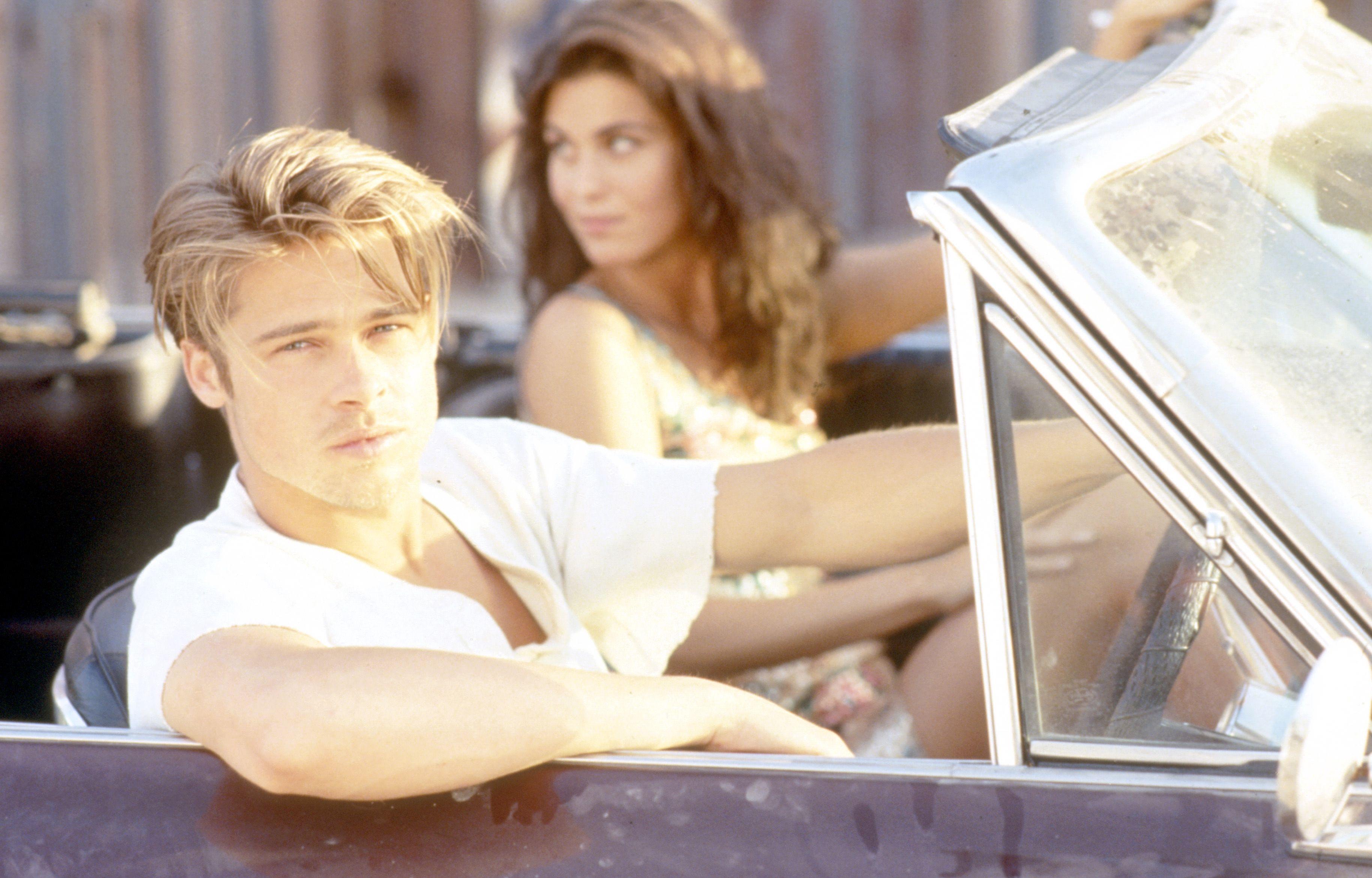 Aktör Brad Pitt, 1990'ların başında modelleme günlerinde.  © Iain McKell / R