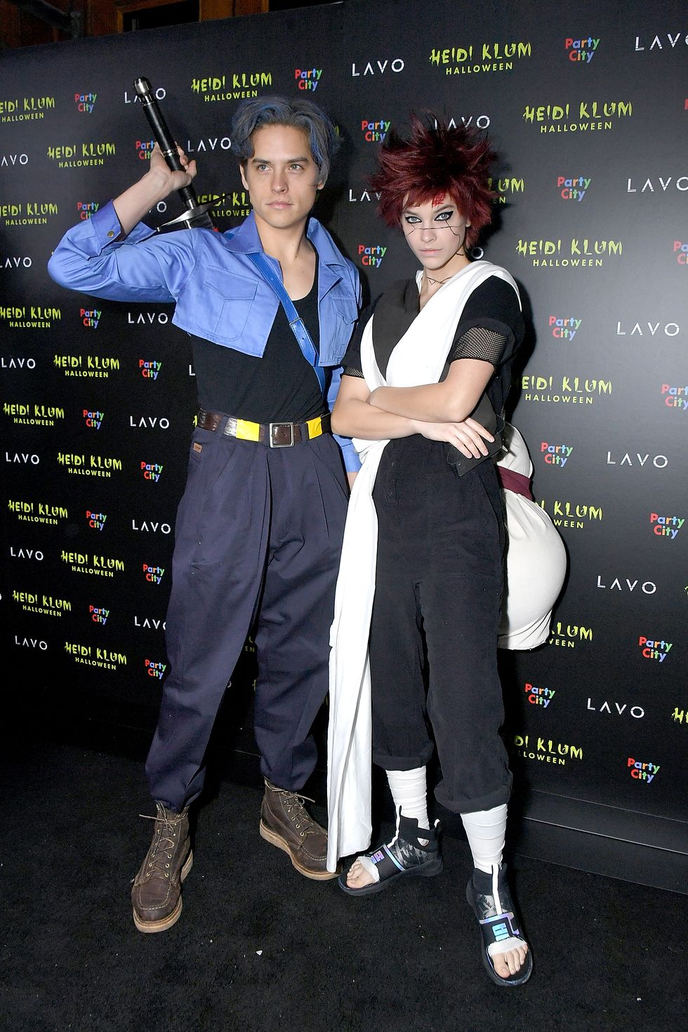 Dylan Sprouse and Barbara Palvin - Anime Couple At Heidi Klum's famed Halloween bash in 2018, Dylan Sprouse and Barbara Palvin donned coordinating anime costumes. (Visit a cosplay store for an easy re-creation.