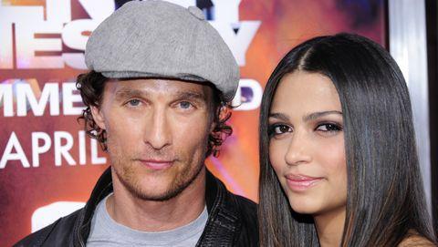 Matthew McConaughey en zijn vriendin Camila Alves