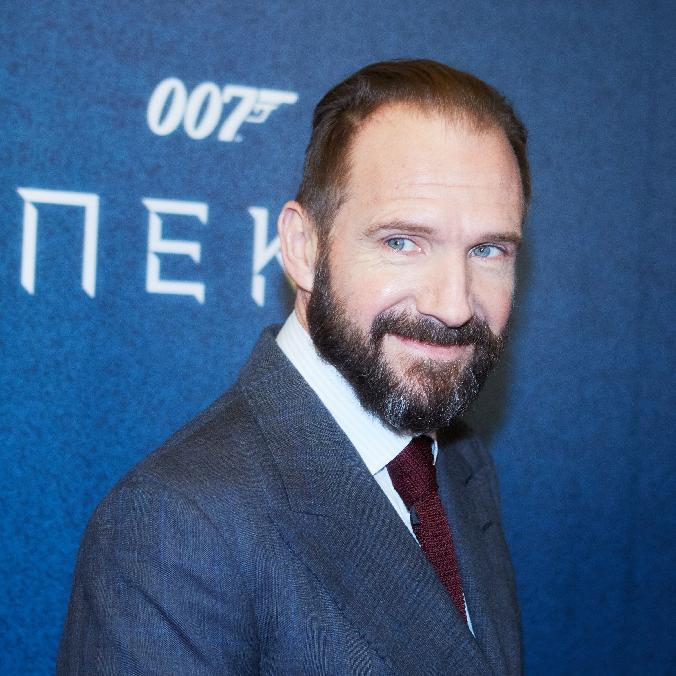 Ralph Fiennes, who plays M in the latest James Bond movies, at the Moscow premier of SPECTRE in 2015.