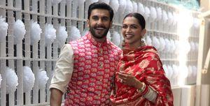 Actor Ranveer Singh with Deepika Padukone seen outside their...
