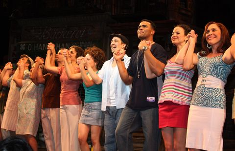 lin manuel miranda celebrates his final performance and 1st anniversary at in the heights on broadway