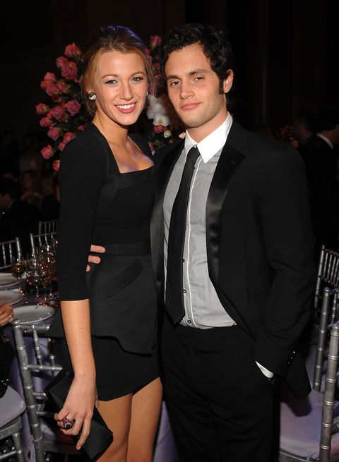 blake lively and penn badgley at the 2009 angel ball
