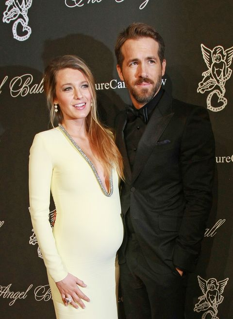 blake lively and ryan reynolds at the 2014 angel ball