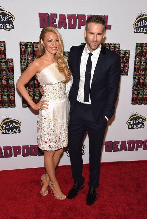 blake lively and ryan reynolds at 'deadpool' event