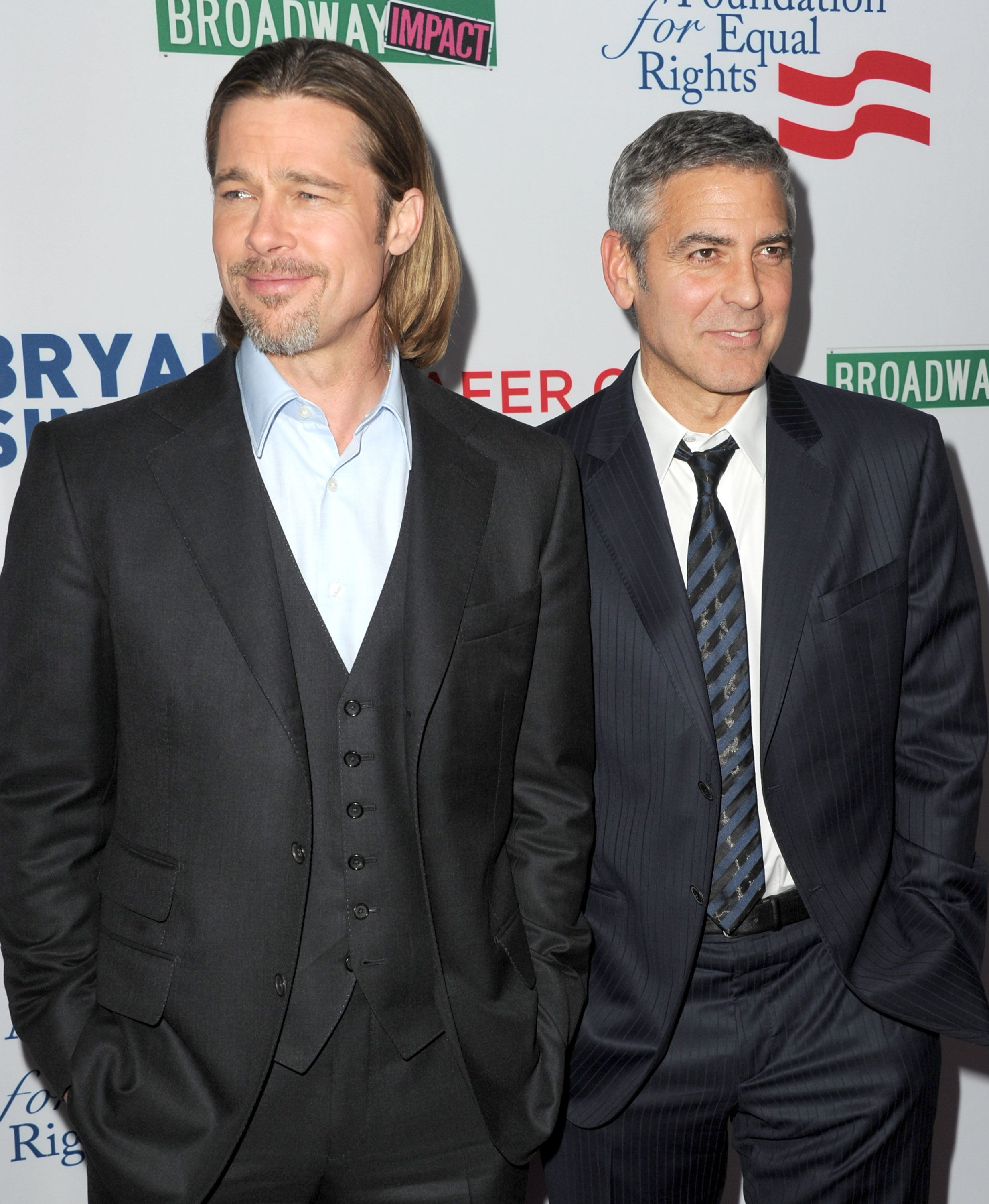 Brad Pitt & George Clooney We love a bromance! These A-listers have starred in several movies together, including the Ocean 's movies and the Coen Brothers' comedy Burn After Reading.