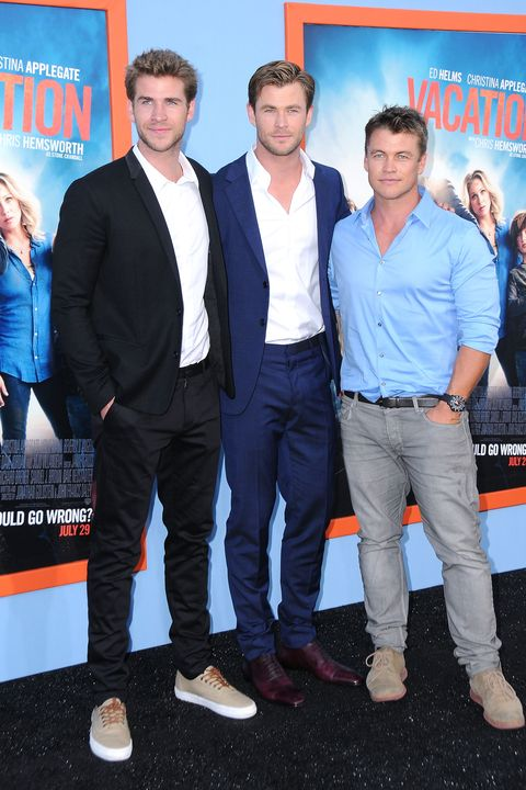 Liam, Chris y Luke Hemsworth