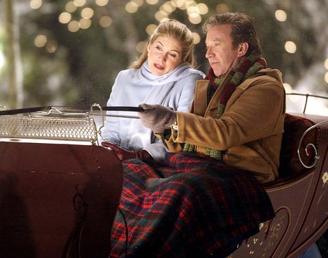 tim allen on the santa clause 2 film set