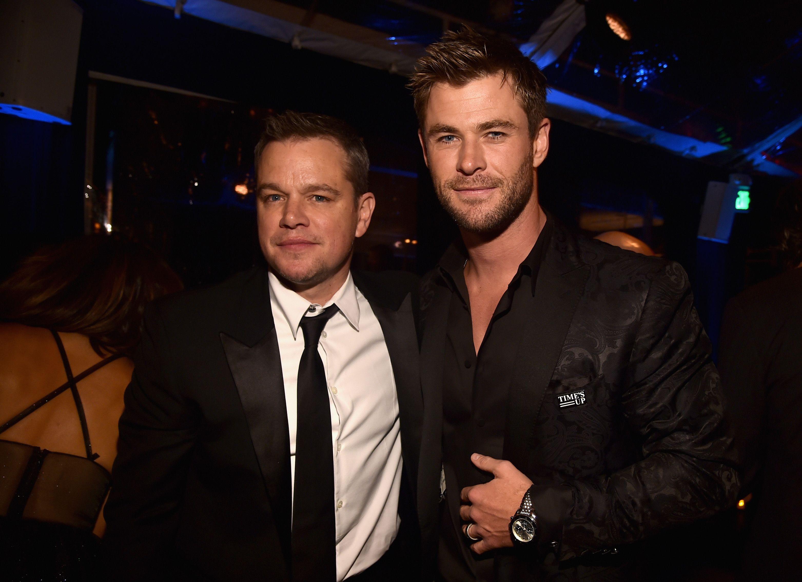 Chris Hemsworth y Matt Damon, en modo Ojo de Halcón en Instagram
