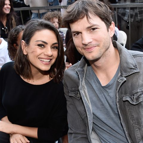 Ashton Kutcher Mila KunisZoe Saldana Star on Walk of Fame Ceremony