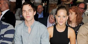 Nicholas Hoult and Jennifer Lawrence