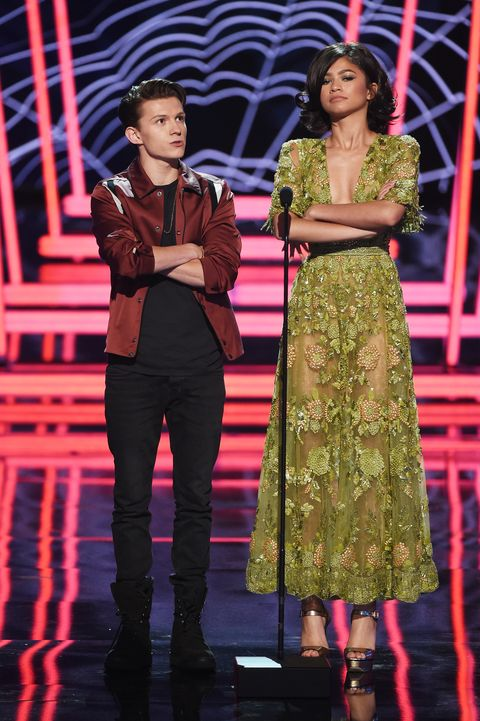 493b911d485e Tom Holland and Zendaya at the 2017 MTV Movie And TV Awards