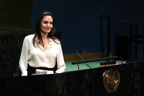 Actress and UNHCR Special Envoy Angelina Jolie...