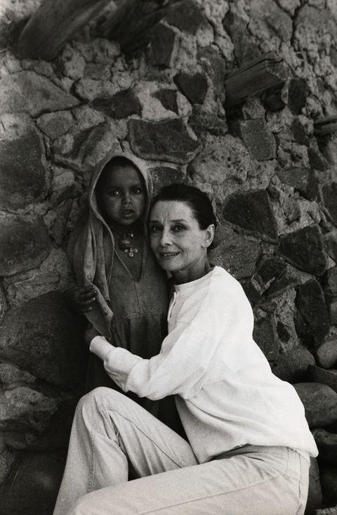 Audrey Hepburn Hugging Ethiopian Child