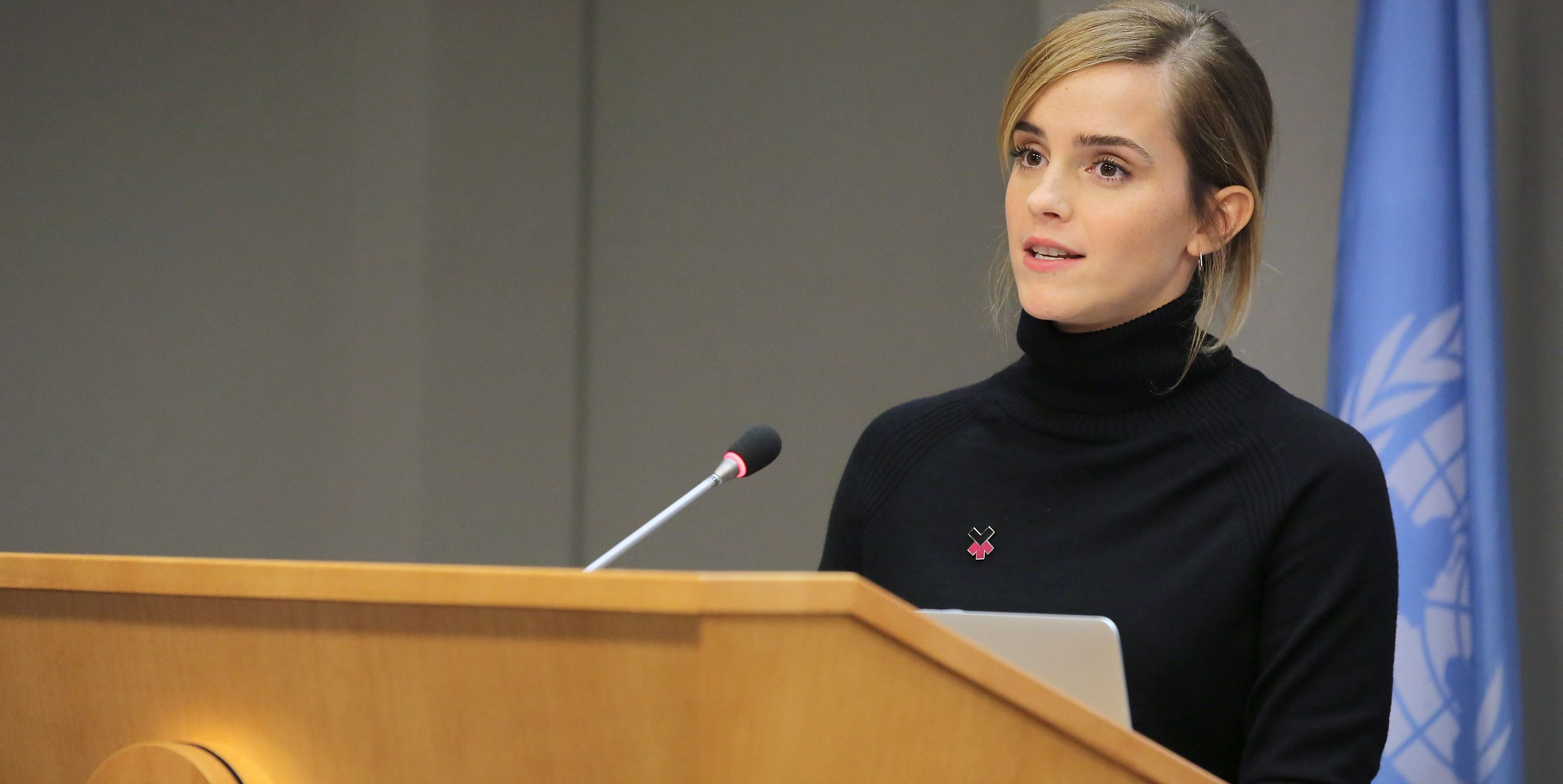 Emma Watson Speaks At the launch of the HeForShe IMPACT 10x10x10 University Parity Report at The United Nations