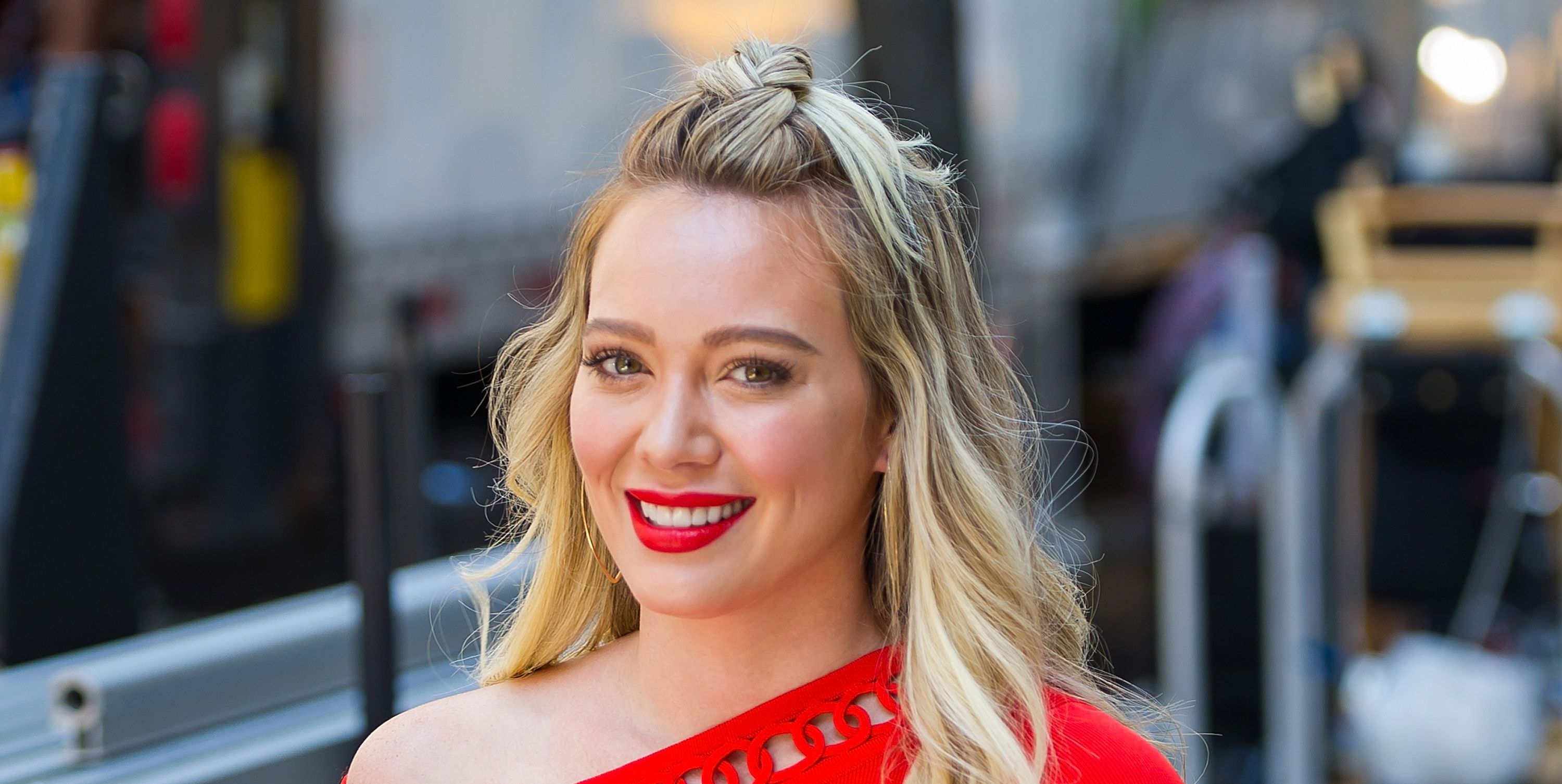 See Hilary Duff's New Short Aqua Blue Hair