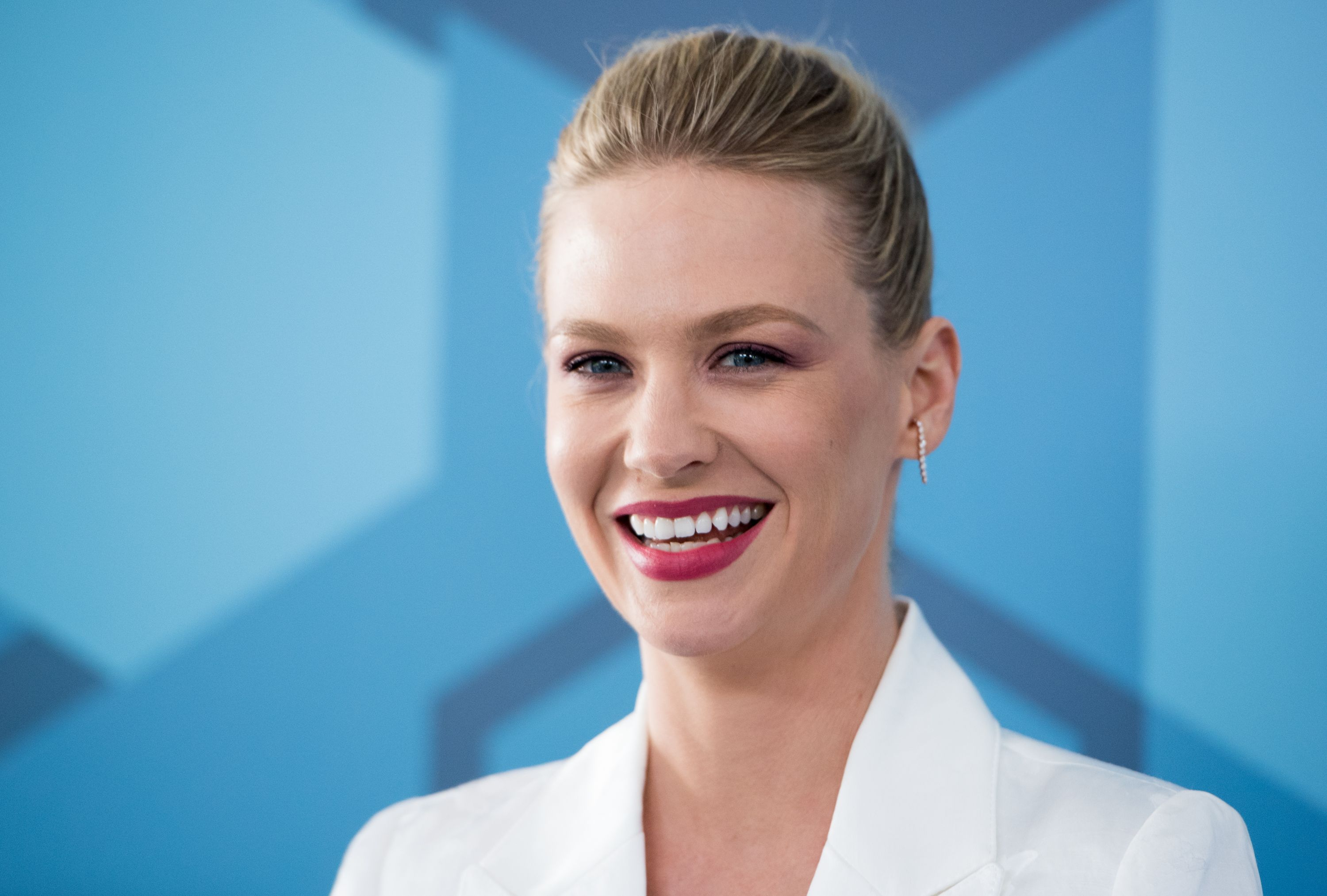 January Jones Shares Important Breast Cancer Message With Topless Selfie