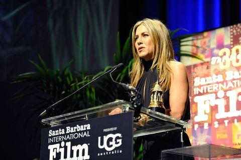 30th santa barbara international film festival   montecito award   jennifer aniston